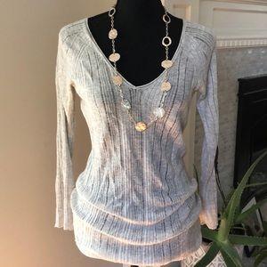 Eileen Fischer Gray Long Sleeve Tunic Sweater